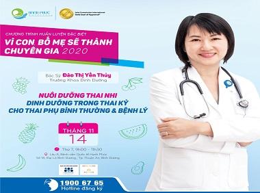 [HEALTH TALK THÁNG 11] Nuôi dưỡng thai nhi – Dinh dưỡng trong thai kỳ