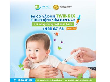 Đã có vắc-xin 𝐓𝐰𝐢𝐧𝐫𝐢𝐱 phòng bệnh viêm gan A + B