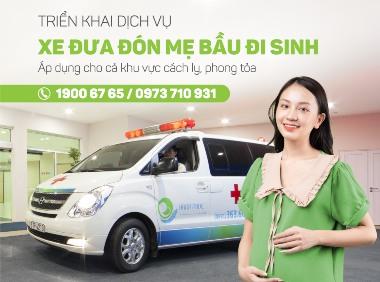 Dịch vụ xe đưa đón tận nơi dành riêng cho mẹ bầu đi sinh mùa dịch